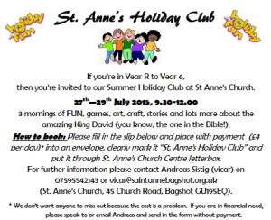 2015 St Annes Holiday Club