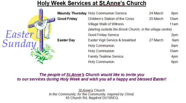Holy week St Anne's