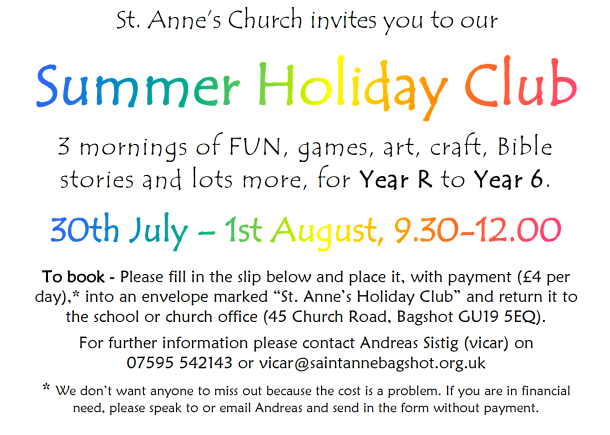 2018 St Annes Holiday Club